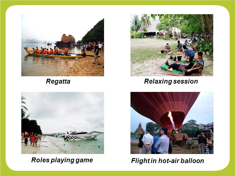 Regatta Flight in hot-air balloon Relaxing session Roles playing game