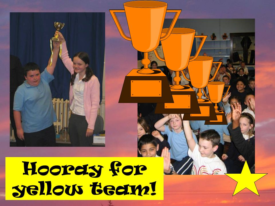 Hooray for yellow team!
