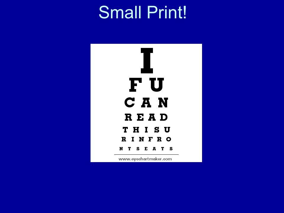 Oh, No! PowerPoint! My eyes, my eyes!