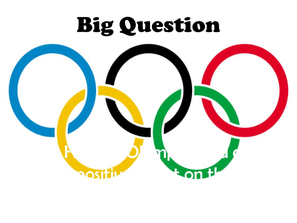 Small Questions 6 Are their politics at the Olympics ?