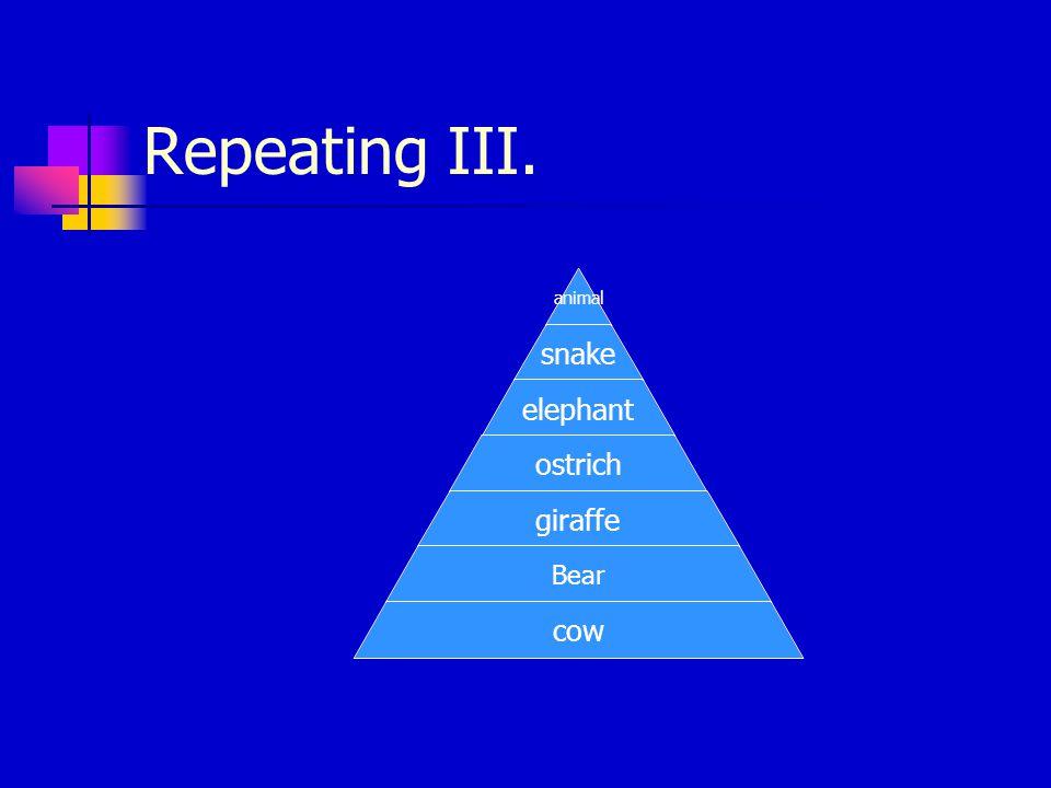 Repeating II.