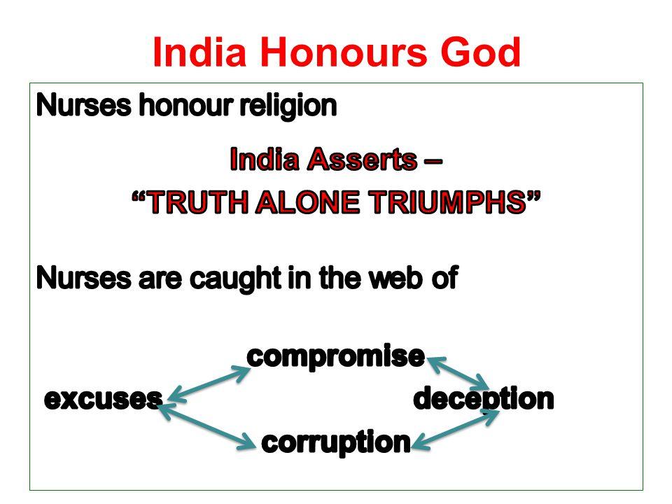 India Honours God