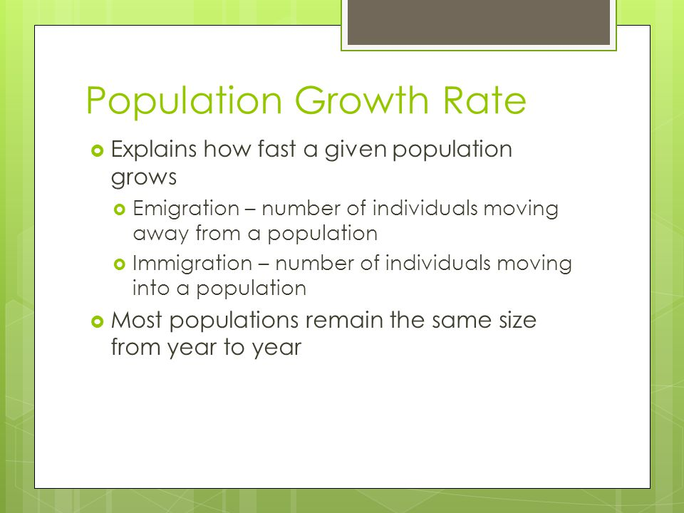 Population Limiting Factors Density-Independent  any factor that does not depend on the number of members in the population  Usually abiotic  natur