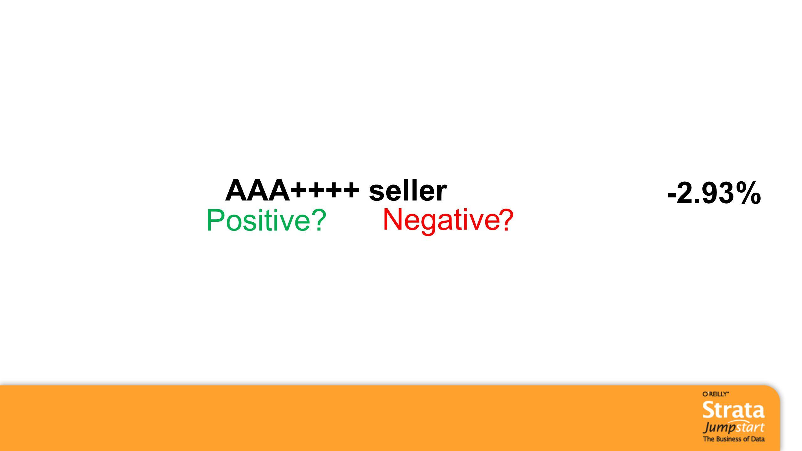 AAA++++ seller -2.93% Positive? Negative ?