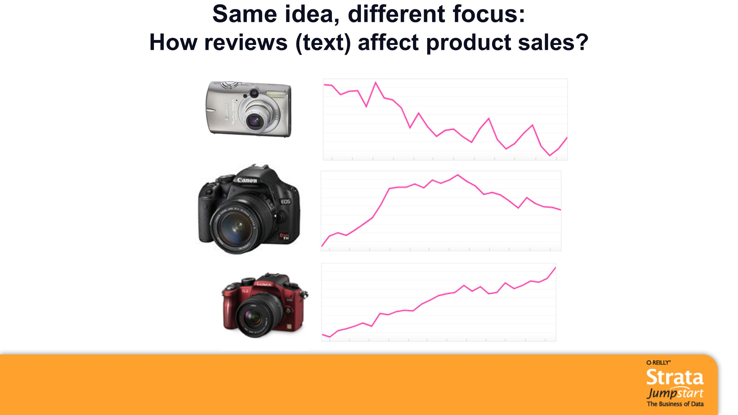 Same idea, different focus: How reviews (text) affect product sales?