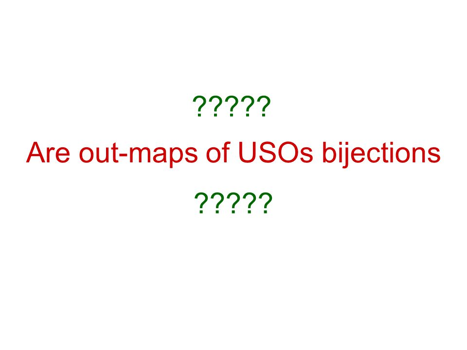 Are out-maps of USOs bijections