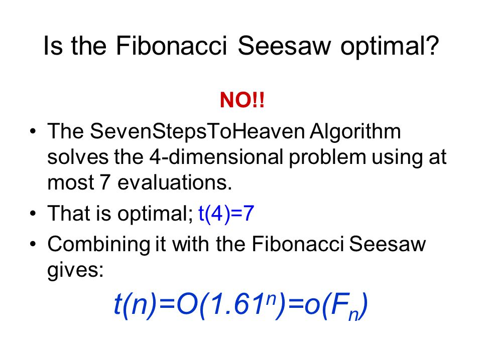 Is the Fibonacci Seesaw optimal. NO!.