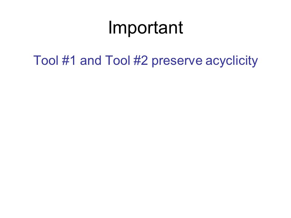 Important Tool #1 and Tool #2 preserve acyclicity
