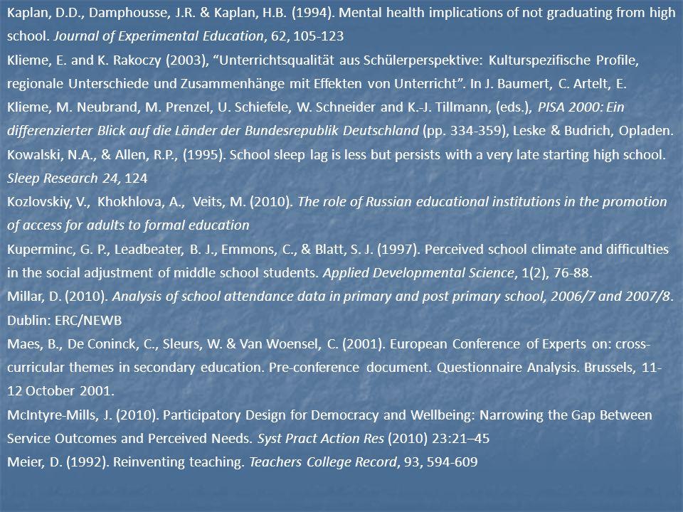 Kaplan, D.D., Damphousse, J.R. & Kaplan, H.B. (1994).