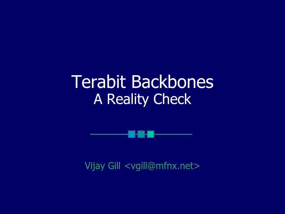 Terabit Backbones A Reality Check Vijay Gill
