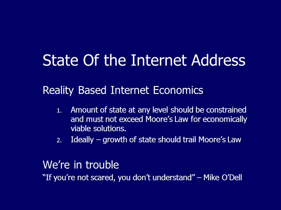 State Of the Internet Address 1.