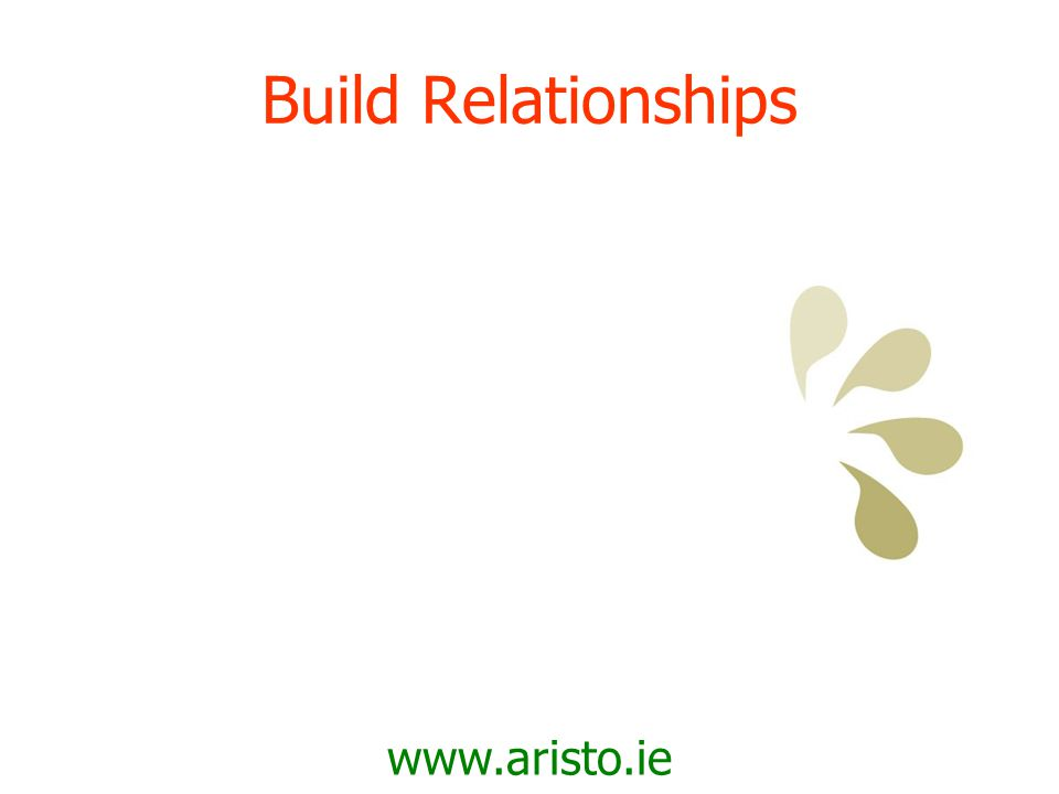 www.aristo.ie Confidence to Connect