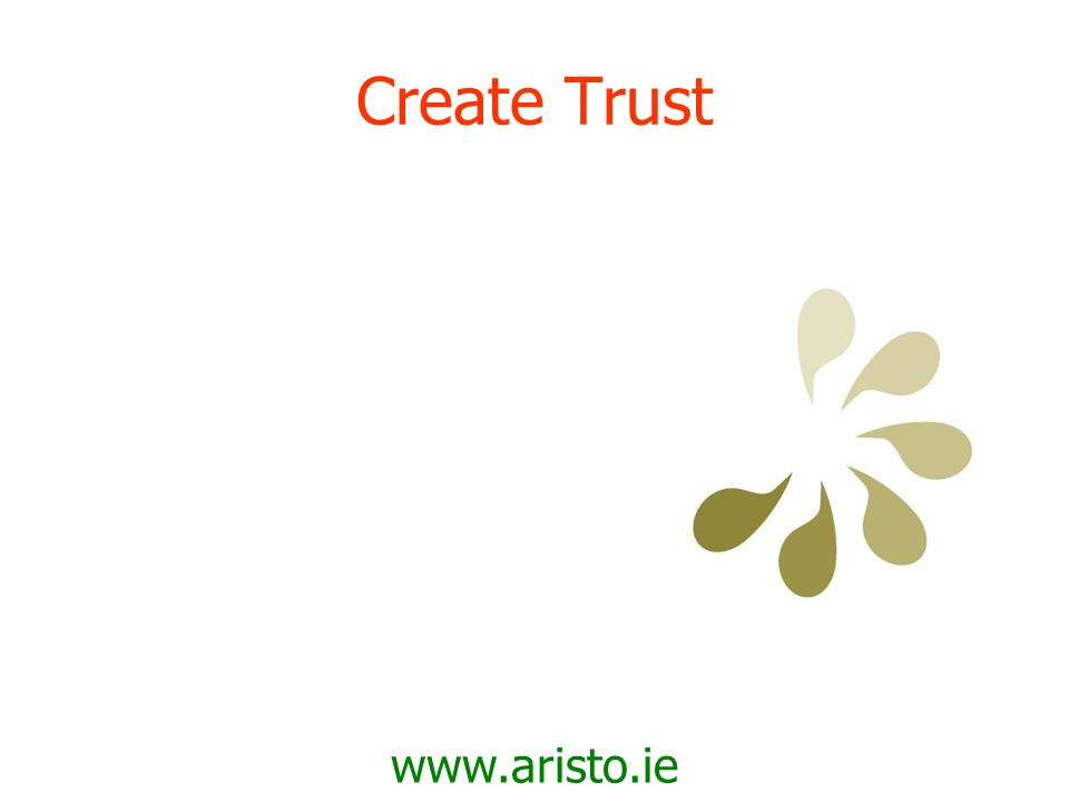 www.aristo.ie Build Relationships
