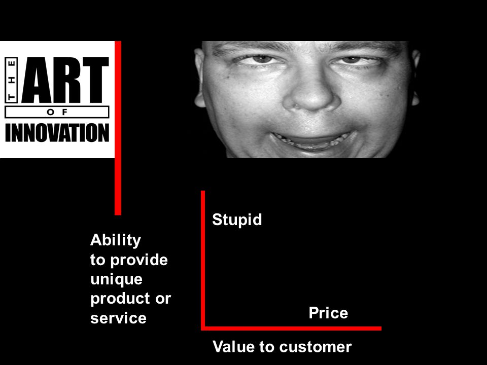 Value to customer Stupid Price Ability to provide unique product or service Ability to provide unique product or service