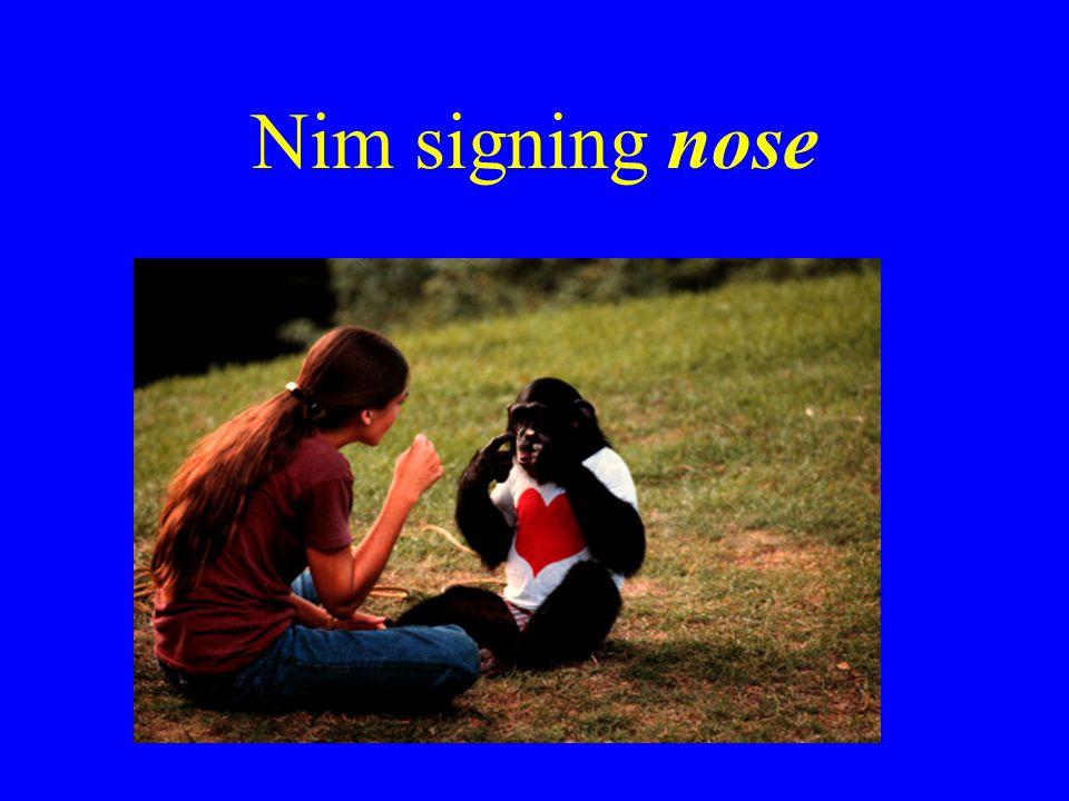 Nim signing nose