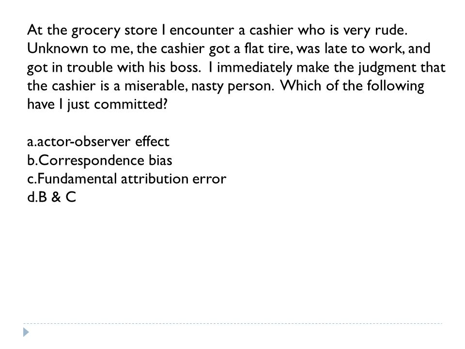 At the grocery store I encounter a cashier who is very rude.