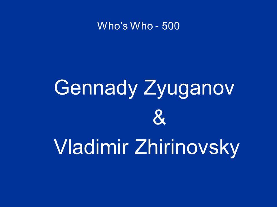 Who's Who - 500 Gennady Zyuganov & Vladimir Zhirinovsky