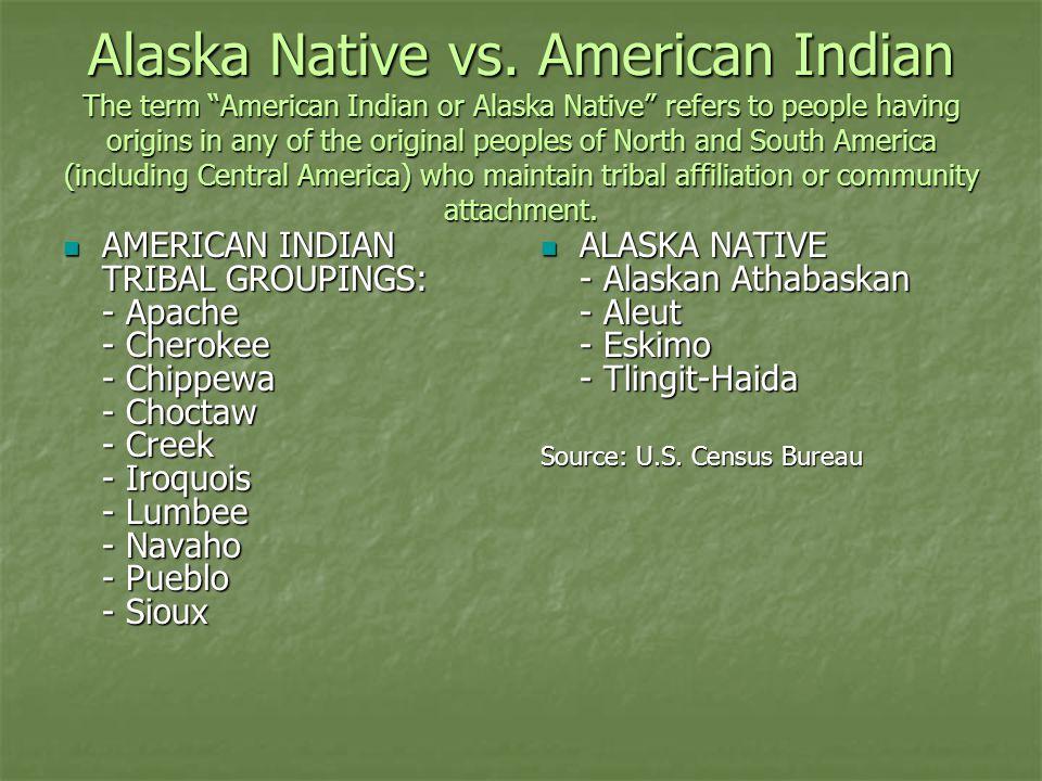 Alaska Native vs.