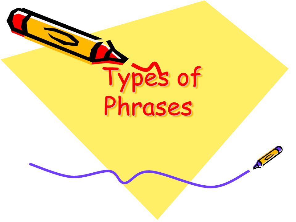 Types of Phrases Types of Phrases