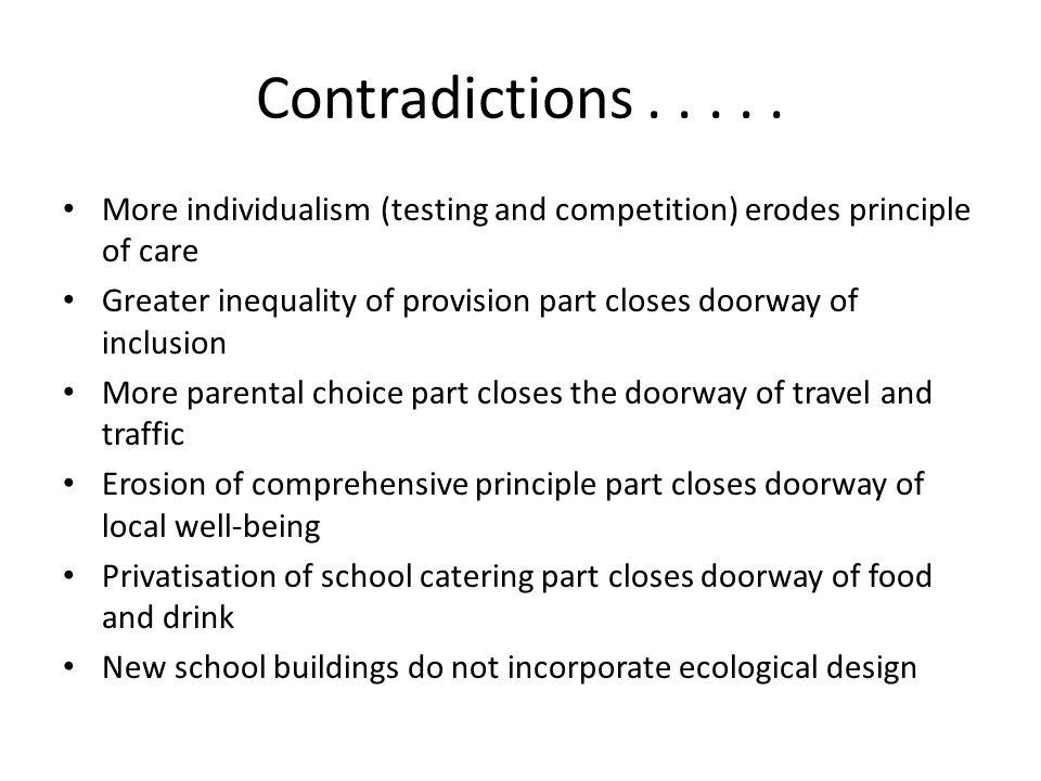 Contradictions.....