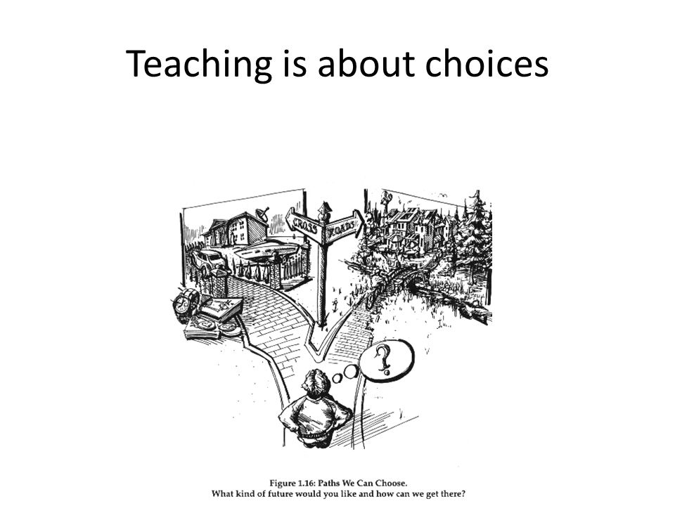 Teaching is about choices