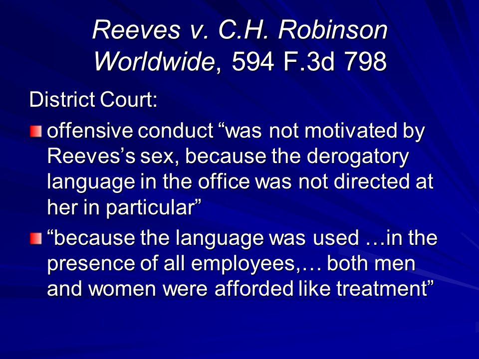Reeves v.C.H.