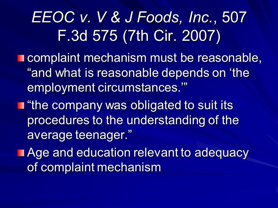 EEOC v.V & J Foods, Inc., 507 F.3d 575 (7th Cir.