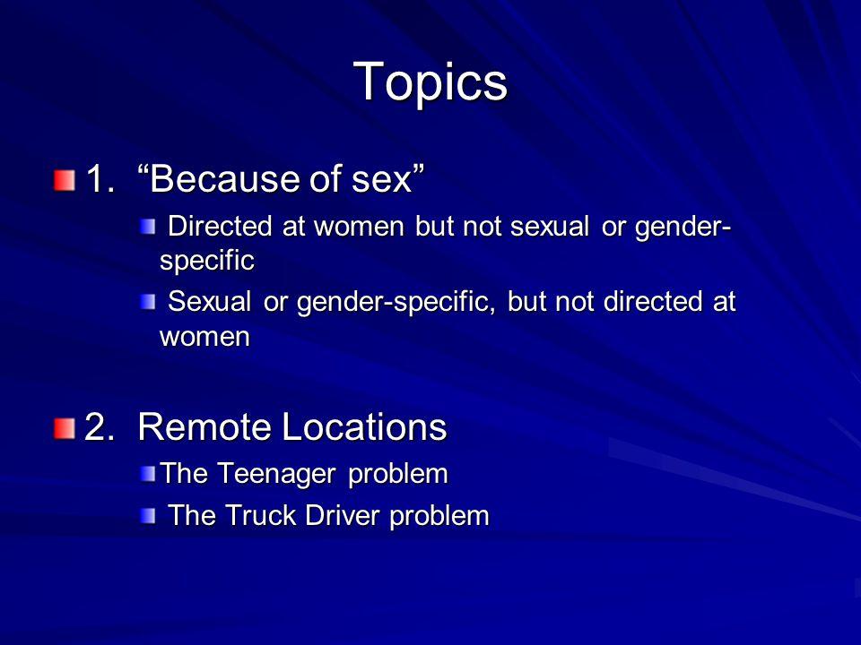 Topics 1.