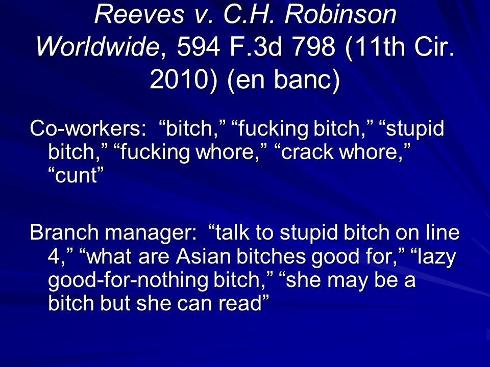 Reeves v.C.H. Robinson Worldwide, 594 F.3d 798 (11th Cir.