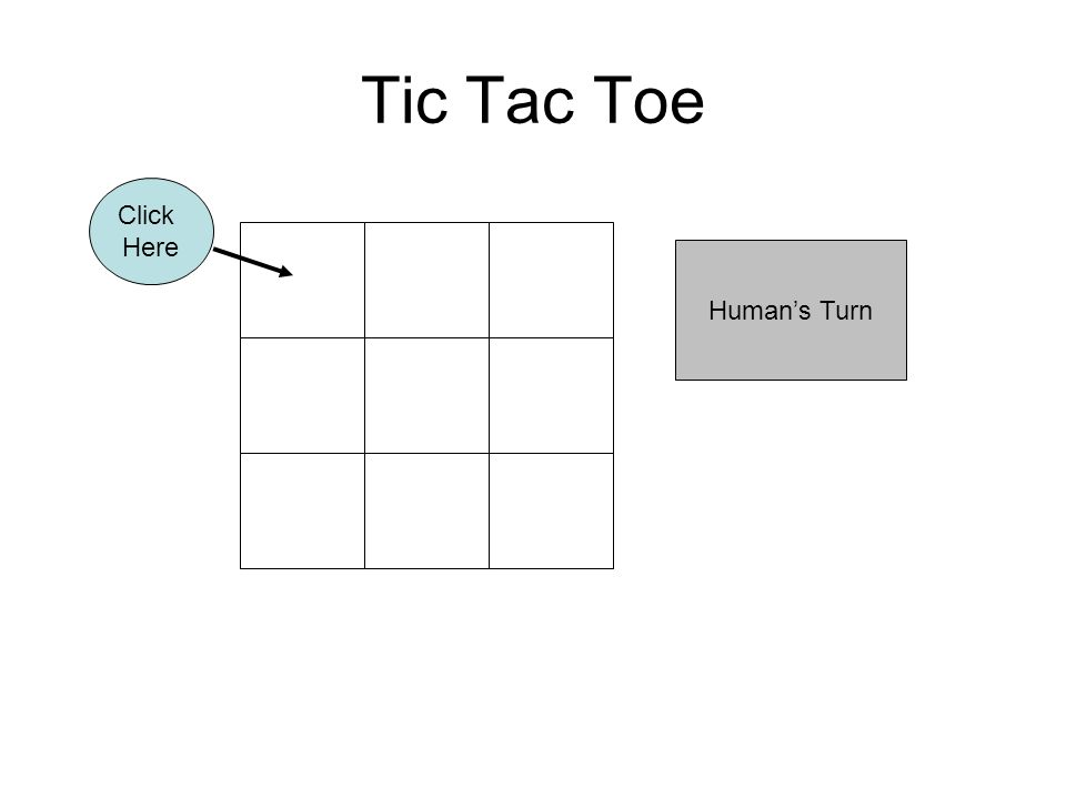 Tic Tac Toe Human's Turn Click Here