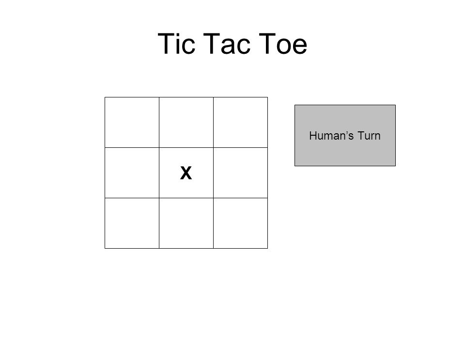 Tic Tac Toe X Human's Turn