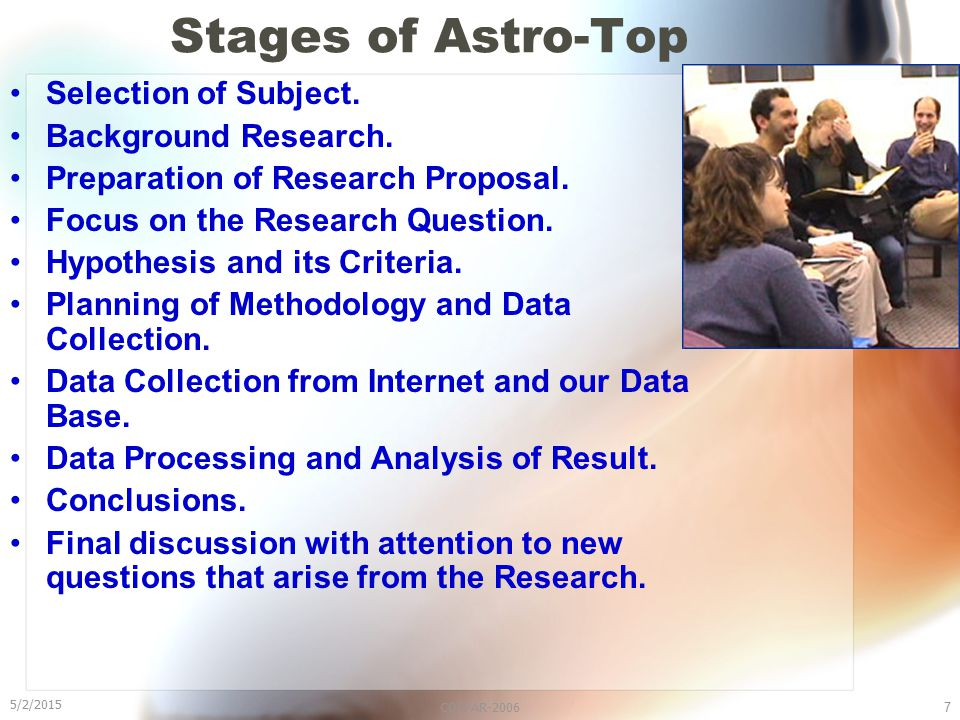 5/2/2015 COSPAR-20067 Stages of Astro-Top Selection of Subject.