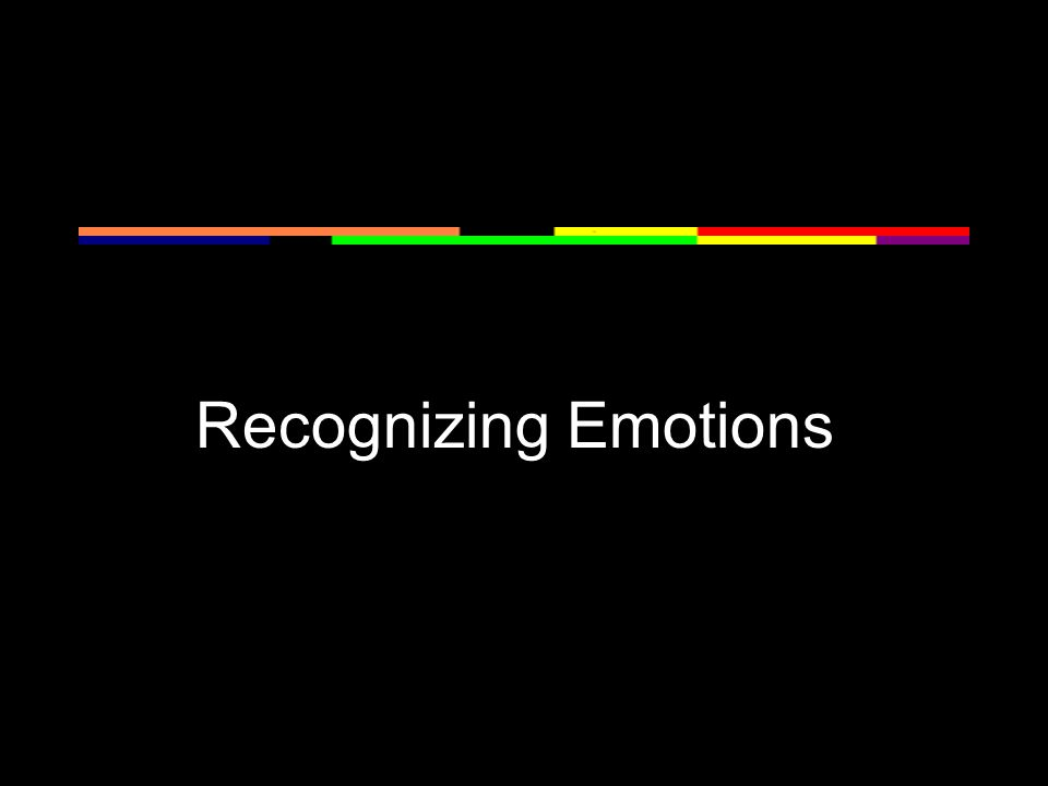Recognizing Emotions