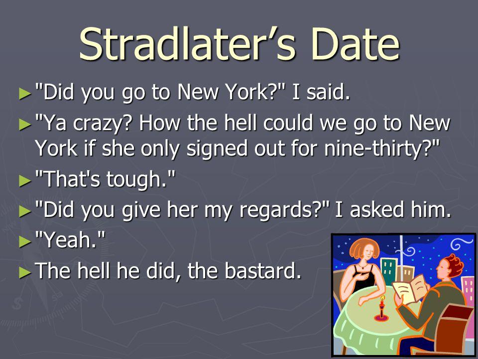 Stradlater's Date ►