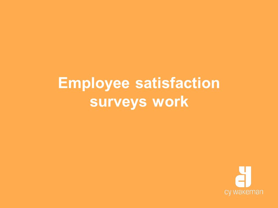 Employee satisfaction surveys work