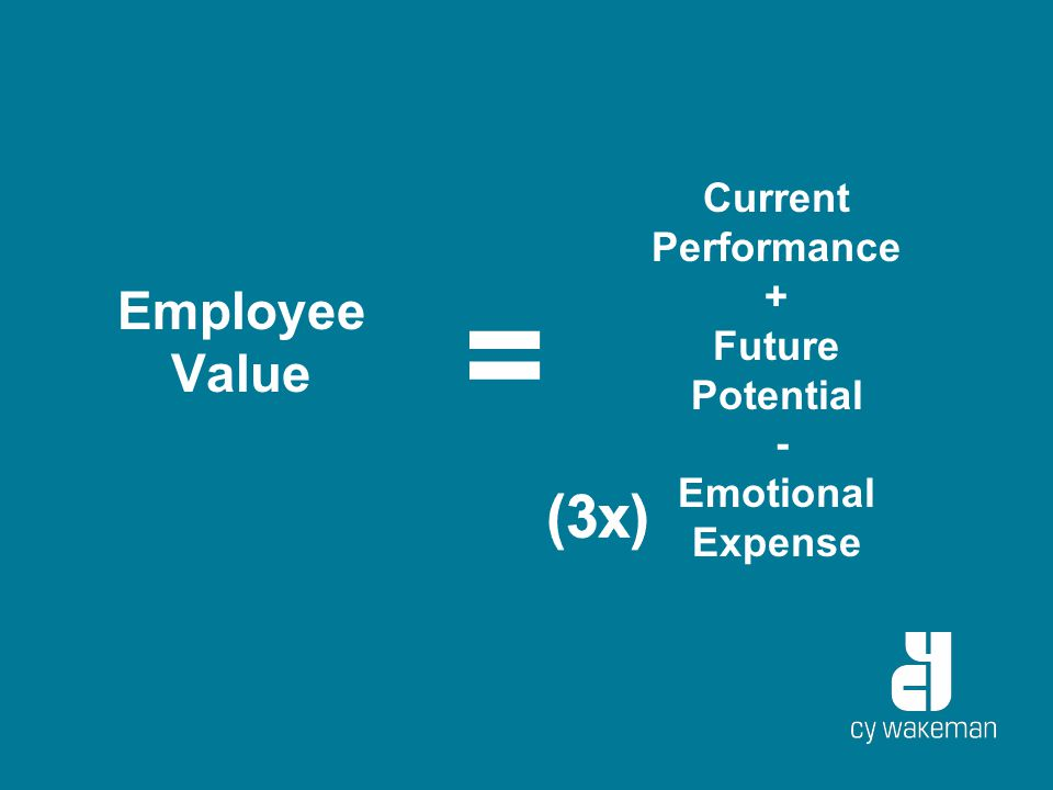 Employee Value = Current Performance + Future Potential - Emotional Expense