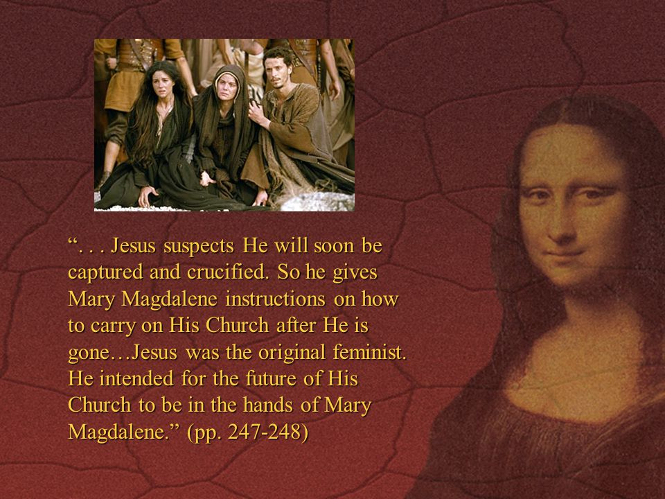 ...Jesus suspects He will soon be captured and crucified.