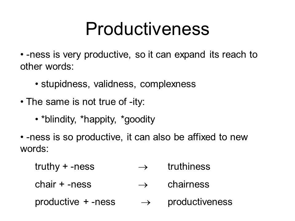 Finiteness Note that finitude is the (awkward?) alternative.