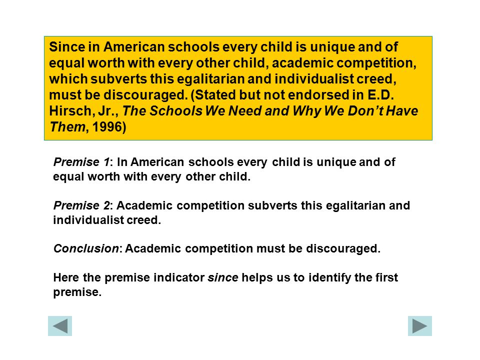 Since in American schools every child is unique and of equal worth with every other child, academic competition, which subverts this egalitarian and individualist creed, must be discouraged.