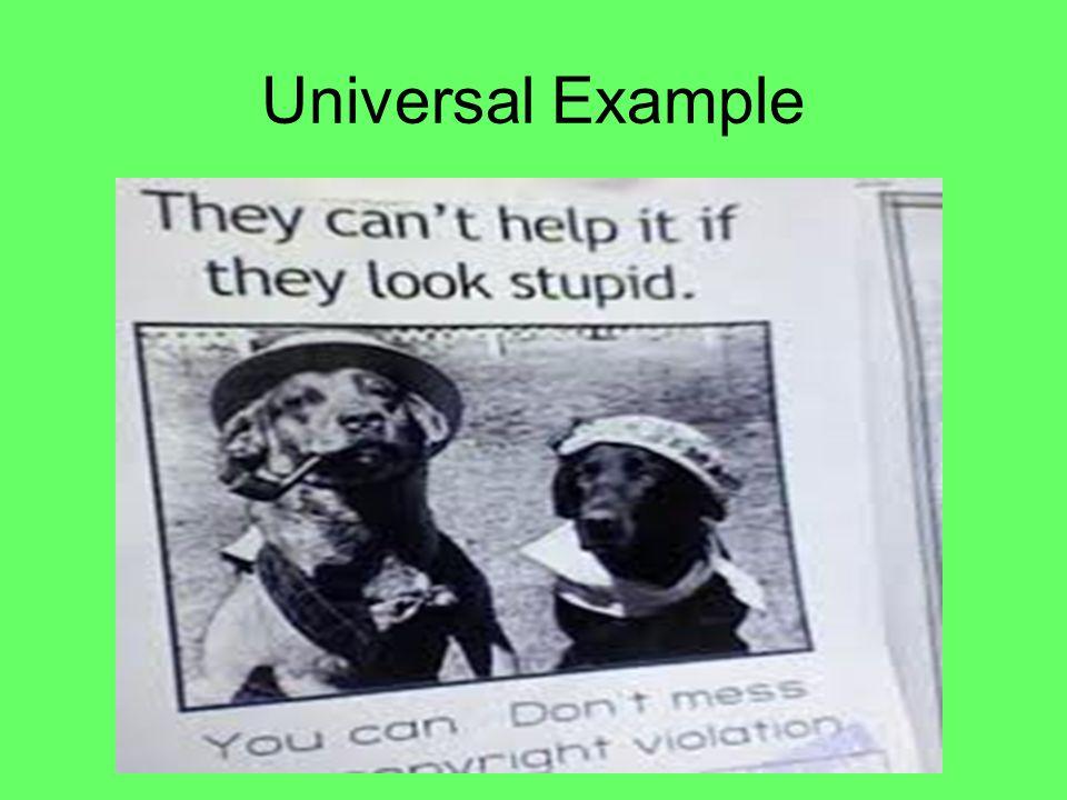 Universal Example