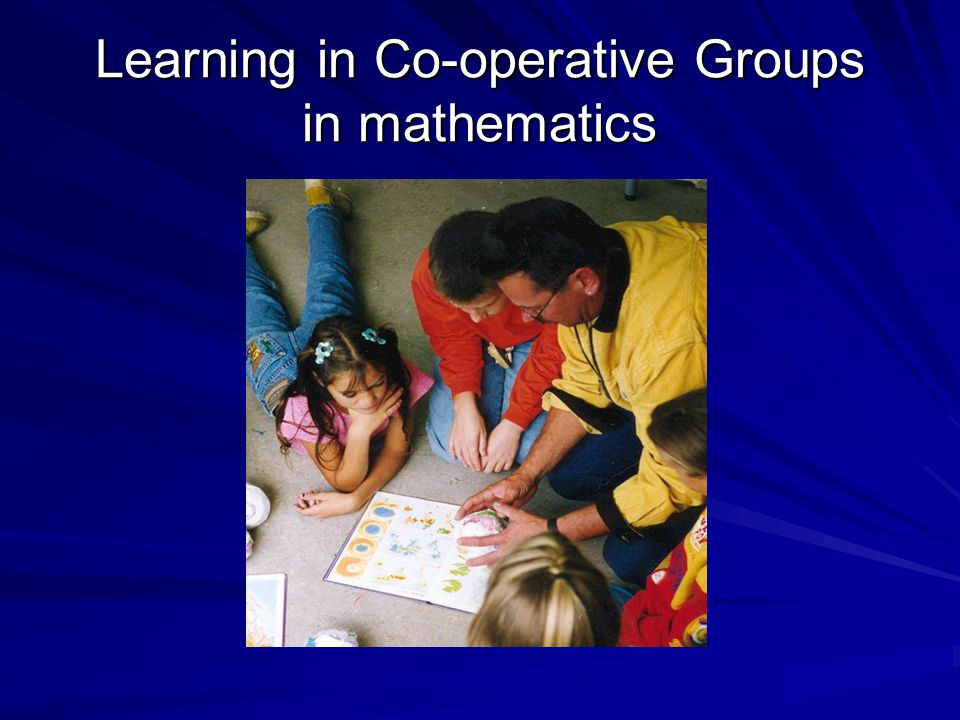 Learning in Co-operative Groups in mathematics
