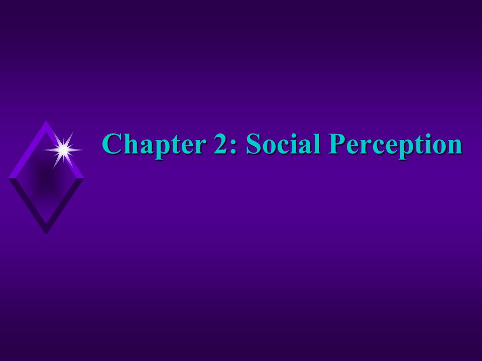 Chapter 2: Social Perception
