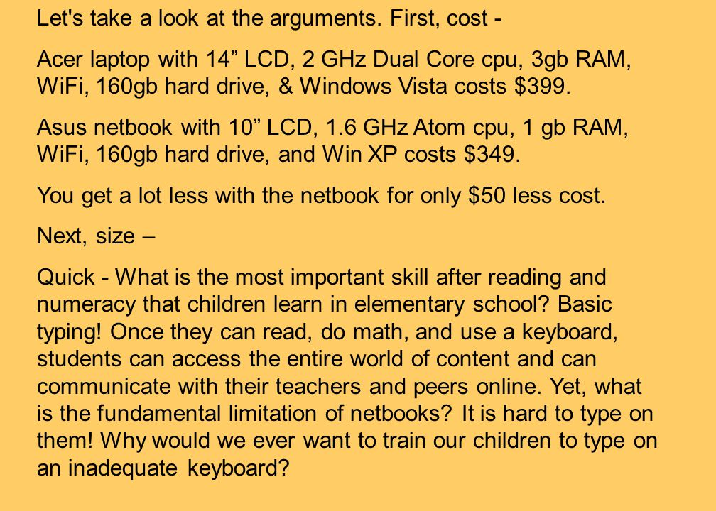 ESchool News Oct 8, 2009By Jon Bower Low cost or learning tool? Netbooks are all the rage, but they don't really meet the needs of today's students. T