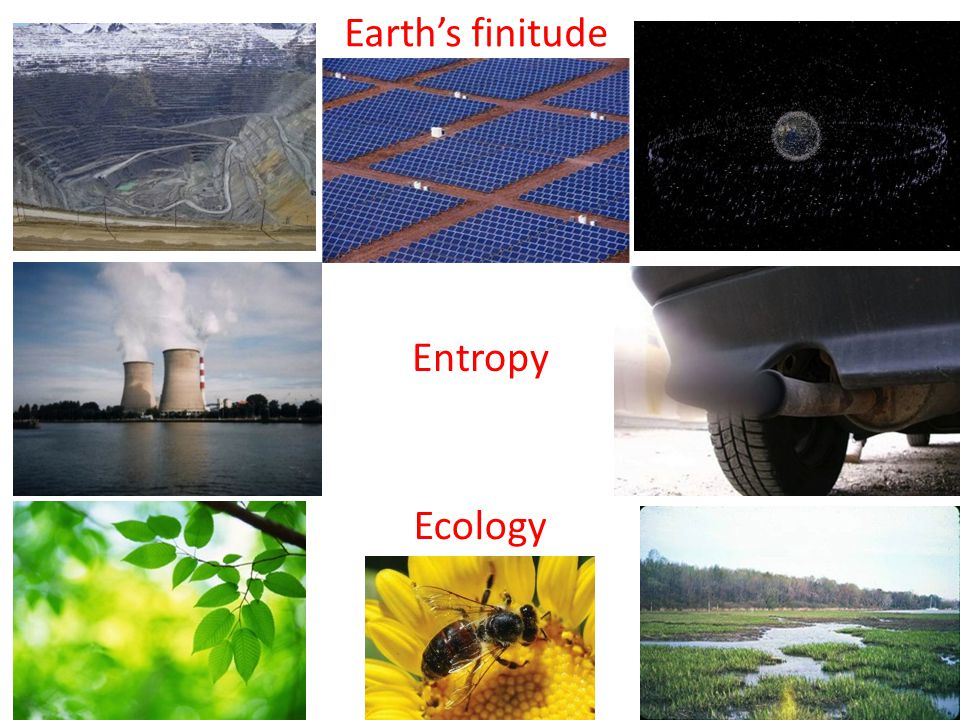 Earth's finitude Entropy Ecology