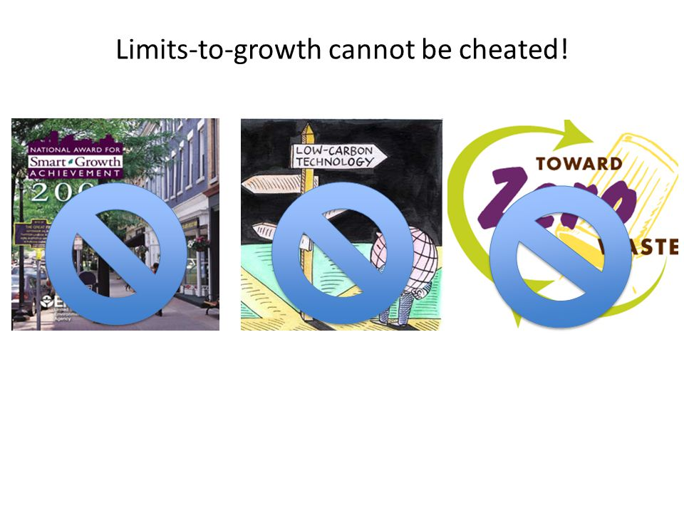 Limits-to-growth cannot be cheated!
