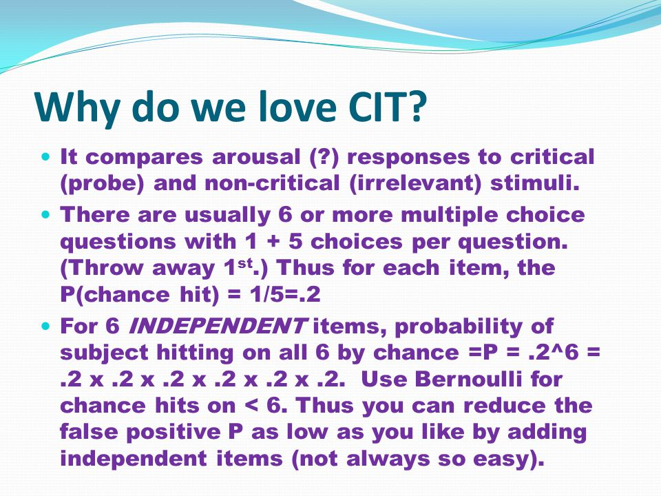 Why do we love CIT.