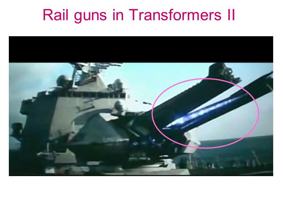 Rail guns in Transformers II