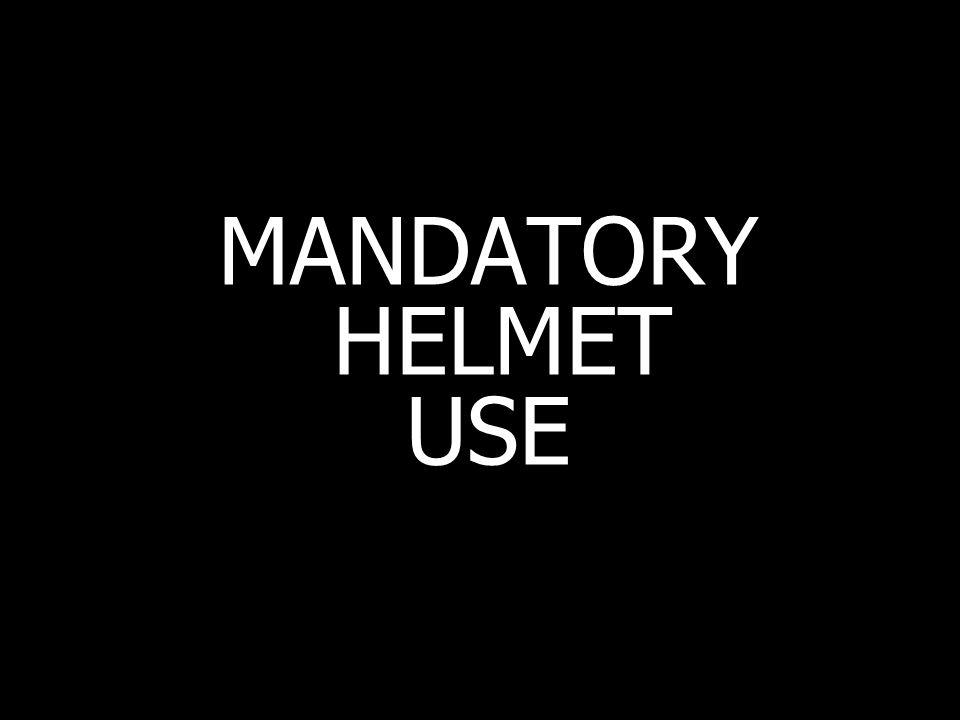 MANDATORY HELMET USE