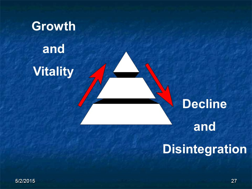 5/2/201527 Growth and Vitality Decline and Disintegration