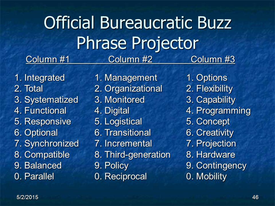 5/2/201546 Official Bureaucratic Buzz Phrase Projector 1.